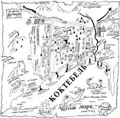 koktebel map Коктебель http://plener.com.ua/node/275