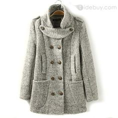 New Arrival Auspicious Double-breasted Slim Euramerican Coat : Tidebuy.com