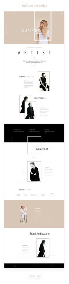 "다음 프로젝트 확인: """"Artist"" - E-Commerce Template Design Concept"" Web Design Trends, Design Web, Email Design, Page Design, Blog Design, Cover Design, Website Layout, Web Layout, Layout Design"
