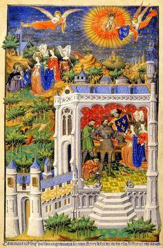 Clovis recevant la fleur de lys de son épouse Clotilde