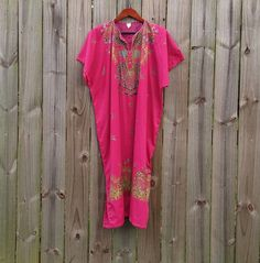 L XL Extra Large Fuchsia Pink Vintage 100% by PinkCheetahVintage