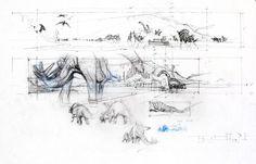 Jurassic Park 3 concept art. #JackJohnson #JurassicPark3 #JurassicPark #Stegosaurus #Brachiosaurus #Triceratops #Parasaurolophus Jurassic Park 3, Abstract, Artwork, Jurassic Park, Parks, Summary, Work Of Art, Auguste Rodin Artwork, Artworks