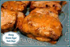 Sweet Tea and Cornbread: Cheesy Brown Sugar Pork Chops!