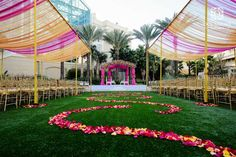 open-canopy-mandap-aisle-pink-and-orange-gaylord-orlando-cquina-lawn