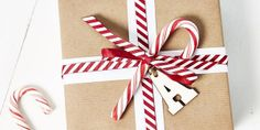 Candy cane wrapping paper - perfect for Secret Santa this #Christmas