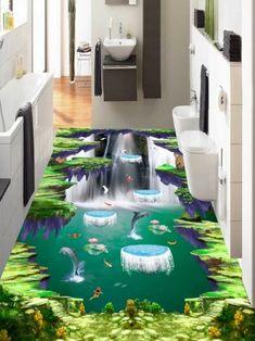 3d Flooring, Floor Murals, Dolphins, Outdoor Decor, Nature, Home Decor, Projects, Interior Design, Nature Illustration