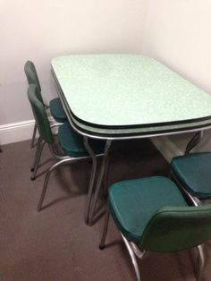 Retro Formica Laminate 5 PCE Dining Setting 4 Chairs AND Table | EBay |  1950s 60 Dining Settings   Green | Pinterest | Formica Laminate, Dining Sets  And ...