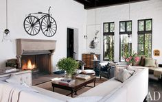 Sheryl Crow's Living Room: Architectural Digest