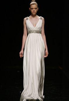 vestido nupcial de inspiración greco romana Rosa Clará
