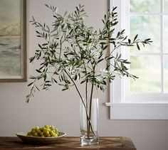 Faux Olive Branch   Pottery Barn
