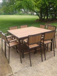 Hey, I found this really awesome Etsy listing at https://www.etsy.com/listing/243568906/industrial-style-patio-or-deck-set-table