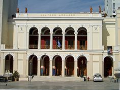 Apollon-Theater in Patras Old Greek, Neoclassical, Old Buildings, Athens, Palazzo, Greece, Patras, Loft, Mansions