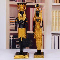 Home Decor Sculptures, Art Sculpture, Home Study Rooms, Statues, Egypt Queen, Egyptian Home Decor, Egypt Crafts, Egyptian Party, Egyptian Pharaohs