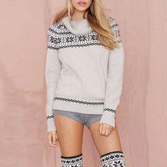 High Collar Casual Loose Sweater LAVELIQ