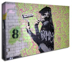 Shave Kong banksy canvas print http://www.simplycanvasart.co.uk/products/SHAVE-KONG-478069.aspx