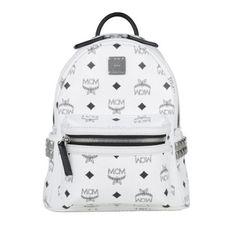 MCM Tasche – Stark Backpack Mini White – in weiß &#8211…