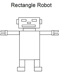 Rectangle Robot | Preschool Theme: Robots | Pinterest | Shape ...