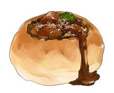 食:ビーフシチュー Sweet Recipes, Real Food Recipes, Dessert Recipes, Food N, Food And Drink, Cute Food, Yummy Food, Watercolor Food, Takoyaki