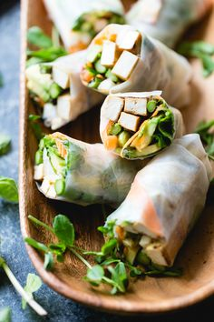 Grilled Asparagus Tofu Spring Rolls with Ginger-Lime Dipping Sauce (The Bojon Gourmet) Grilled Vegetable Recipes, Tofu Recipes, Asian Recipes, Whole Food Recipes, Vegetarian Recipes, Cooking Recipes, Healthy Recipes, Healthy Lunches, Fresh Spring Rolls