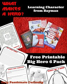 What Makes a Hero? Free Big Hero 6 Printable Pack – Teach your children this week using Big Hero 6 and our character education printables! #BigHero6Release #shop #ad