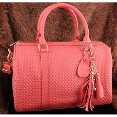 Womens fashion light red leather shoulder bags $129.00 - Out of stock