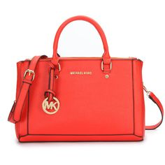 #HOT#MichaelKorsBag Michael Kors Logo Large Red Satchels Enjoys Great Popularity From The Fashion World!