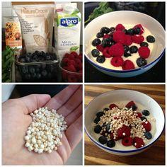 Gepofte quinoa ontbijt stappen