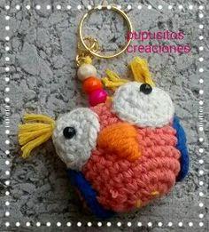 Llaveros búhos crochet