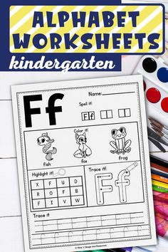 Are you looking for some alphabet activities and printables to use while teaching preschool or kindergarten students? This printable learning and practicing worksheets are exactly what you need to teach tracing, letter recognition, writing for free at home or in the classroom. How to do that? Just print and have fun! These pages are perfect for alphabet centers and include alphabet recognition activities for preschool, hand writing, and more! #alphabetactivities #aphabetpreschool Alphabet Worksheets, Alphabet Activities, Alphabet Tracing, Preschool Activities, Preschool Worksheets, Preschool Phonics, Reading Activities, Kindergarten Names, Letter Recognition