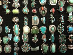 Cristina's Coins and Jewelry - We have Literally Hundreds of Antique & Vintage Authentic American Indian Pawn Jewelry in Sterling Silver with Genuine Turquoise