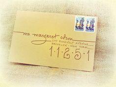 """""""Splendid Blend"""" style on Kraft Paper Envelope Wedding Invitation Calligraphy. """"Splendid Blend"""" style on Kraft Paper Envelope Envelope Lettering, Envelope Art, Envelope Design, Envelope Writing, Letter Addressing, Addressing Envelopes, Paper Succulents, Mail Art Envelopes, Drawn Art"""