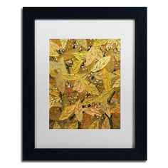 """Trademark Art """"Autumn"""" by Hai Odelia Framed Painting Print Size:"""