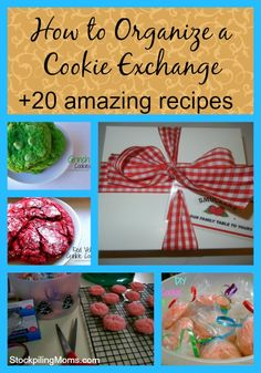 There is nothing more fun than a cookie exchange at Christmas! How to organize a cookie exchange plus 20 amazing cookie recipes!