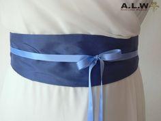 Seidengürtel in Blau von alw-design auf DaWanda.com