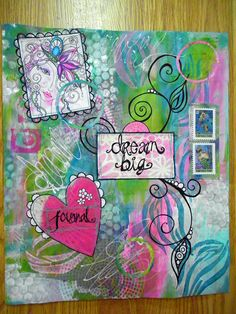 jessie's DREAM BIG journal - create a journal for your dreams.  See Art de Jour for more.