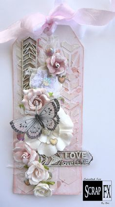 Pink Chevron Tag for Scrap FX - Bec Genet