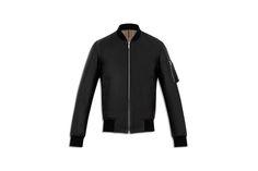 Cuir Doublure contrastée, zips avec détail gomme, agneau nappa noir - Prêt-à-porter Dior