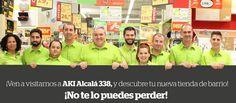 Disfruta de las más de 10.000 referencias en stock y todos los servicios que ponemos a tu alcance en nuestra primera tienda urbana en Madrid, en calle Alcalá , 338. ¡Ahora mucho más cerca de ti! http://www.aki.es/aki/apertura-alcala-338