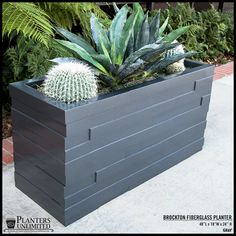 Outdoor Modern Fiberglass Planter Boxes, Rot-Free | Planters Unlimited