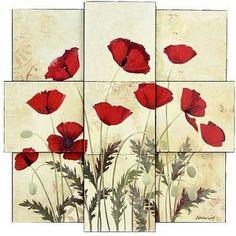 poppies wall art