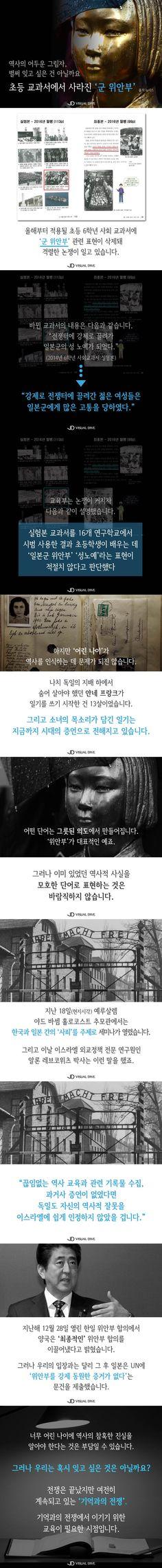 '위안부' 표현 초등 교과서에서 삭제…역사적 사실 축소 논란 [카드뉴스] #history / #cardnews ⓒ 비주얼다이브 무단 복사·전재·재배포 금지
