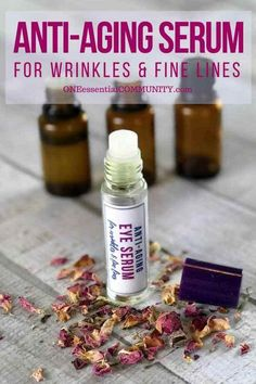 skin care Remedies young living - Anti-Aging Serum for Wrinkles {made with essential oils} Best Anti Aging, Anti Aging Skin Care, Natural Skin Care, Anti Aging Tips, Natural Oils, Natural Hair, Essential Oils For Face, Essential Oil Uses, Doterra