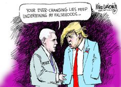 Mike Luckovich (2017-05-12) USA: Donald Trump, Pence ÷÷÷ by Mike Luckovich