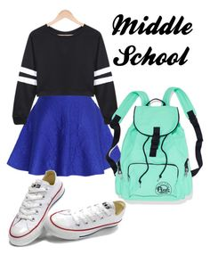 Middle School by emma4387 on Polyvore featuring Chicwish and Converse