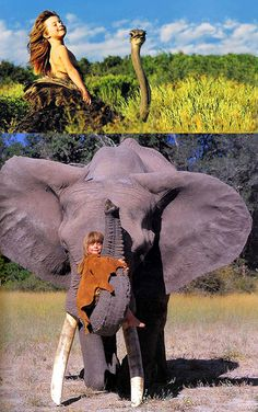 Photographers Capture Real Mowgli, a Little Girl Who Grew Up with African Wildlife