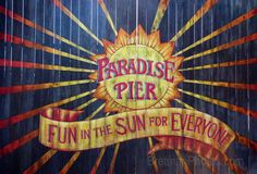 Paradise Pier Sign by Mailboomer