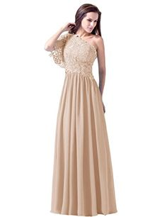 Diyouth Long Bridesmaid Appliques Prom Dresses One Shoulder Evening Gown Champagne Size 2 Diyouth http://www.amazon.com/dp/B00RK1EVAW/ref=cm_sw_r_pi_dp_vhFXvb1TBYTZ1
