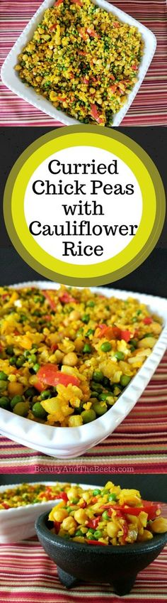 Curried Chickpeas with Cauliflower Rice recipe and a Publix Gift Card giveaway! Get ready for the Publix Savannah Women's Half Marathon. Veggie Meals, Veggie Recipes, Healthy Recipes, Healthy Food, Yummy Food, Cauliflower Rice, Chickpeas, Beets, Giveaway