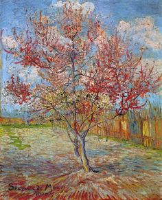 Vincent Van Gogh - Pink Peach Tree In Blossom - art prints and posters