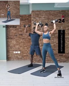 Fitness Workouts, Arm Workouts At Home, Full Body Hiit Workout, Gym Workout Videos, Fitness Workout For Women, Dumbbell Workout, Yoga Fitness, Fat Workout, Exercices Swiss Ball